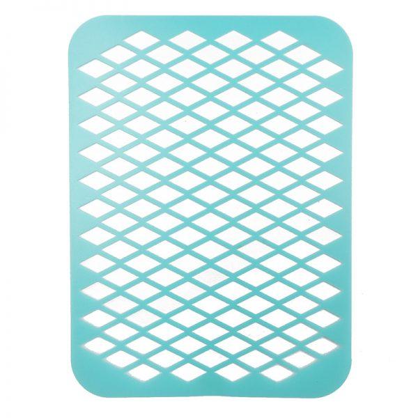 Blue color PVC stencil for scrapbooking