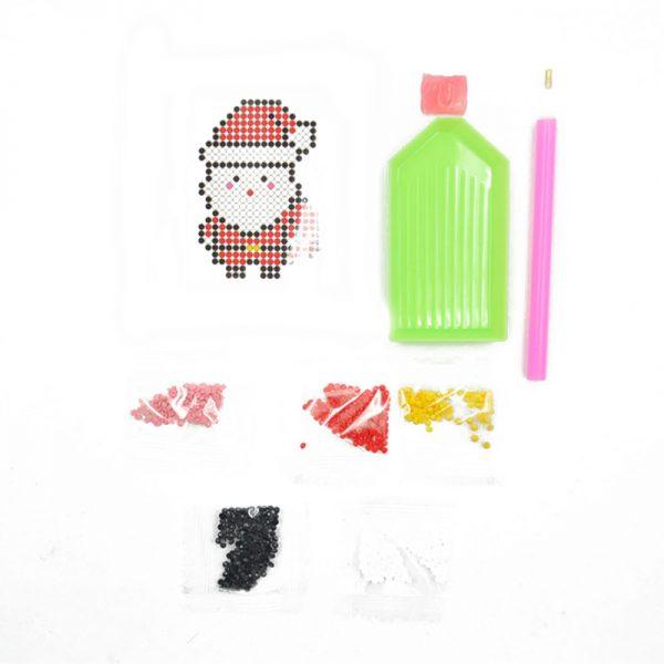 Custom design Santa Shape Diamond Painting set for DIY Hobby