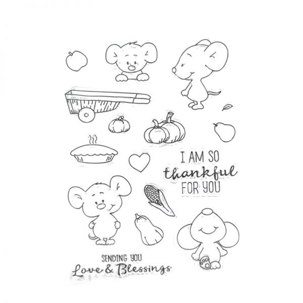Wholesale most popular cute mouse shape clear stamp