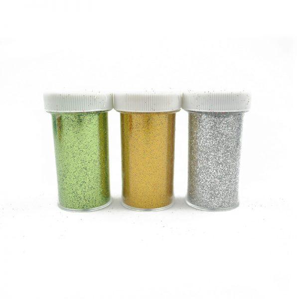 Green Gold Silver color Glitter Powder