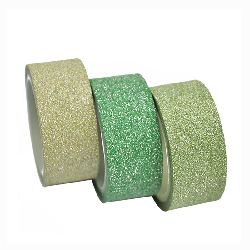 Wholesale green champagne and light green color glitter