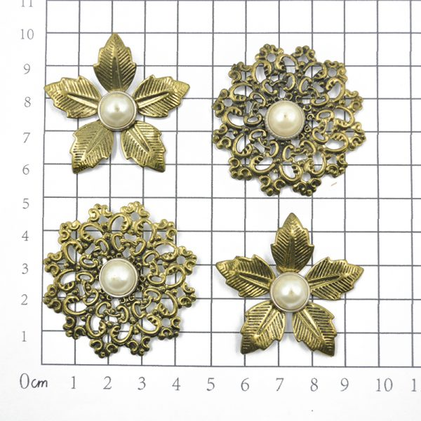 Custom design copper color trinkets for scrapbooking