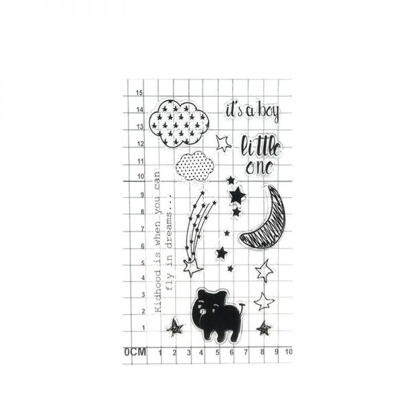 Sweet dream theme TPR clear stamp for scrapbooking