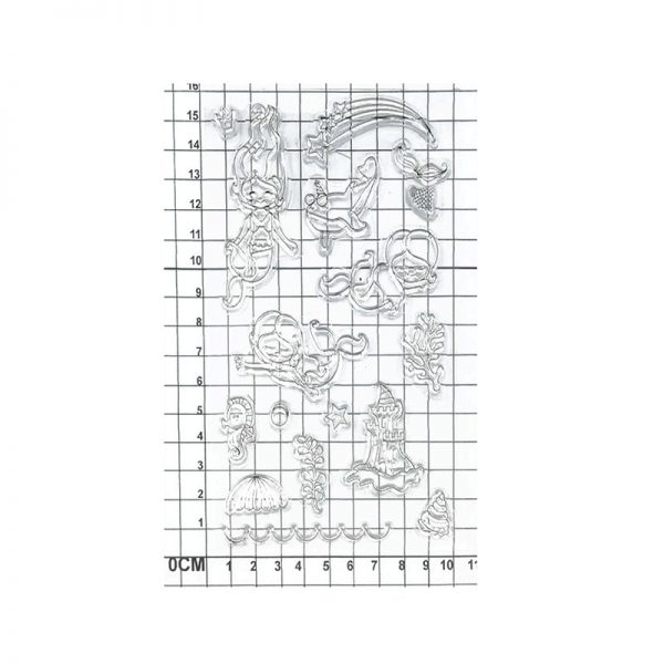 Cute mermaid shape clear stamp for wholesale