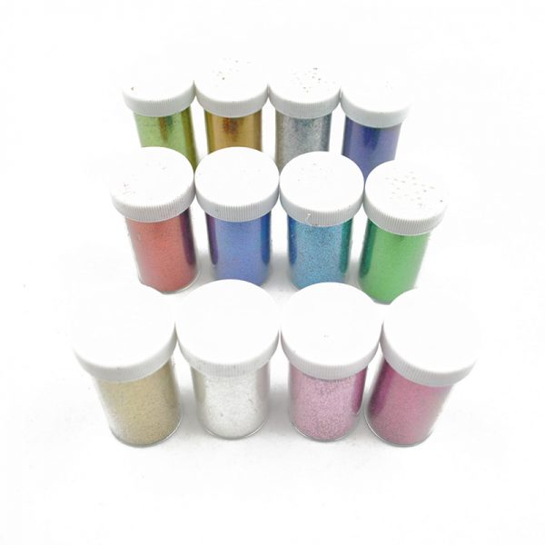 Wholesale gold silver pink color glitter powder for DIY hobby