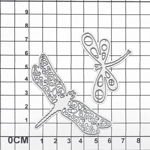 Set of two dragonfly shape cutting dies for scrapbooking