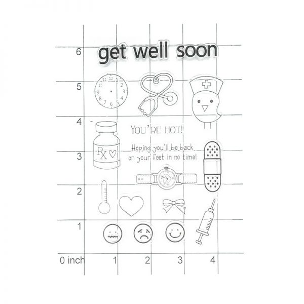 Cute hospital theme clear stamp for DIY hobby
