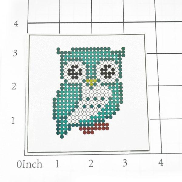 Cute Owl Shape Diamond Painting Set for DIY Hobby