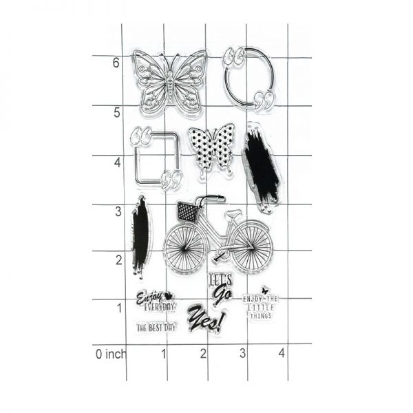 Happy spring theme craft clear stamp for scrapbooking