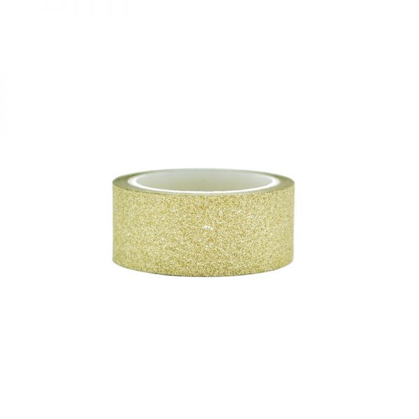 Gold silver and brown color glitter washi tape for scrapbooking