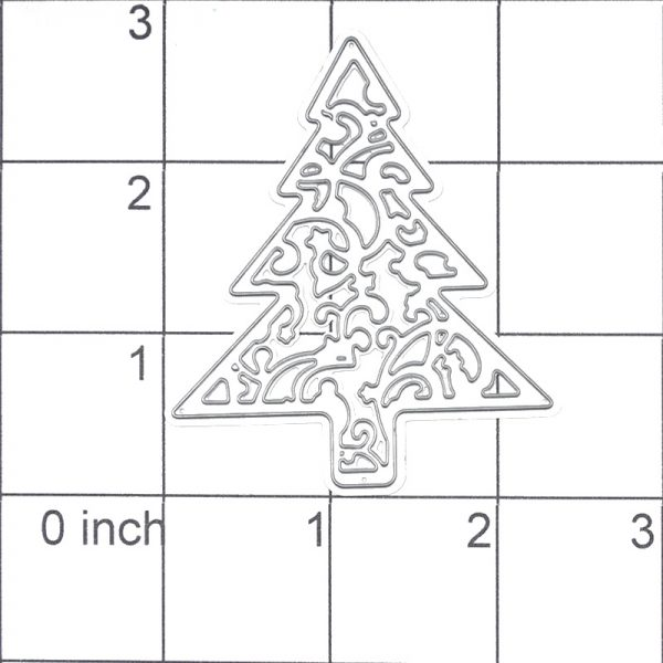 Wholesale cheap pine tree shape craft dies for scrapbooking