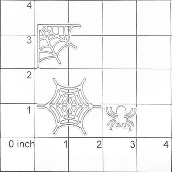 Spider with cobweb shape craft cutting dies
