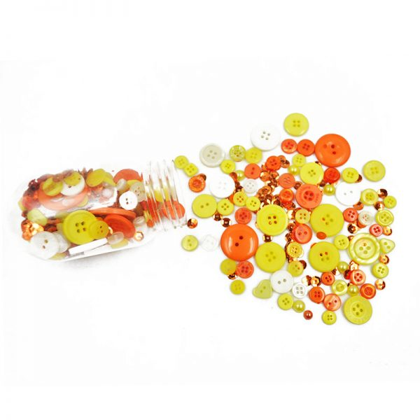 Yellow plastic button decorative  DIY apparel accessories