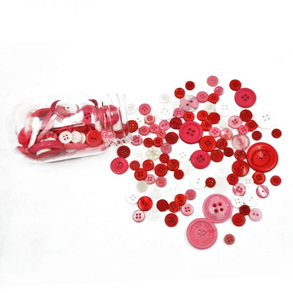 Pink plastic button decorative  DIY apparel accessories