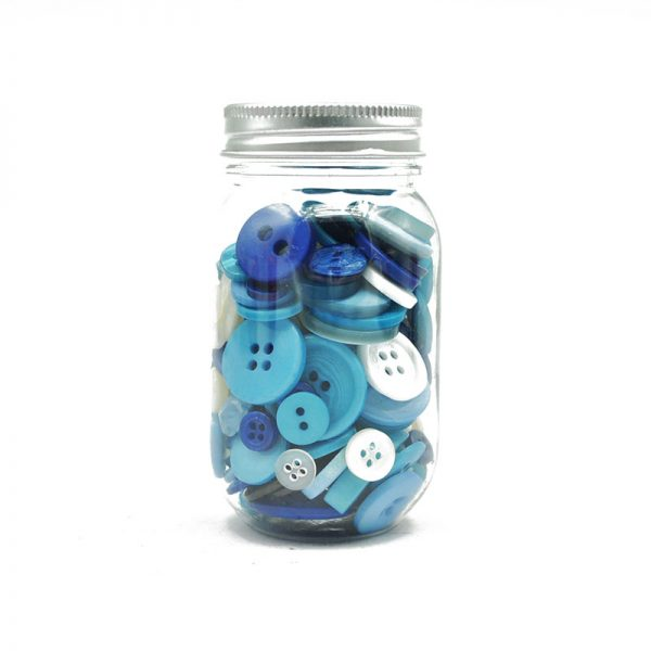 Blue plastic  button decorative  DIY apparel accessories
