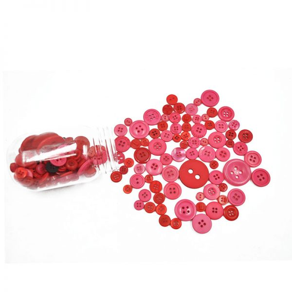 Red plastic button decorative  DIY apparel accessories