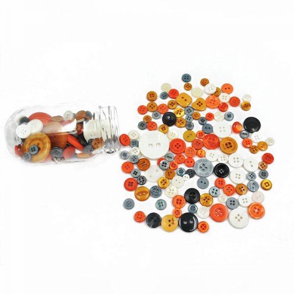 Orange plastic button decorative  DIY apparel accessories