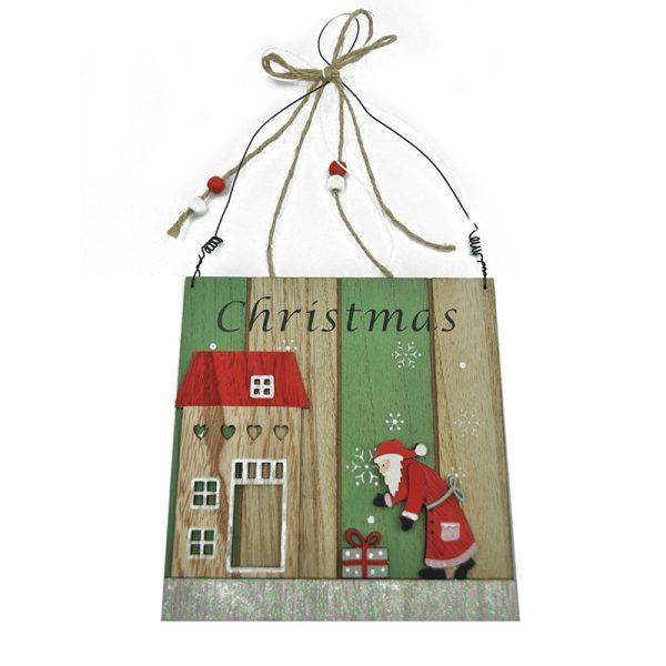 2 assorted wood craft door hanger for Christmas decoration