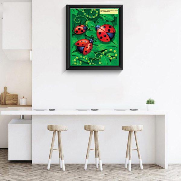 Cartoon ladybird diamond painting DIY craft