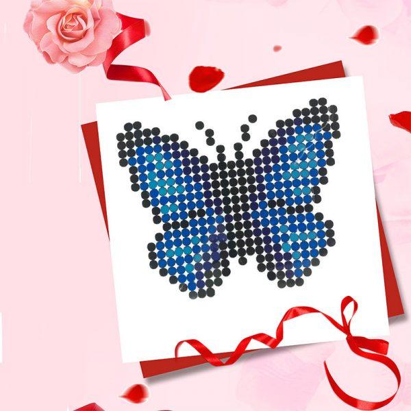 Blue butterfly DIY sticker craft diamond painting manufacturer