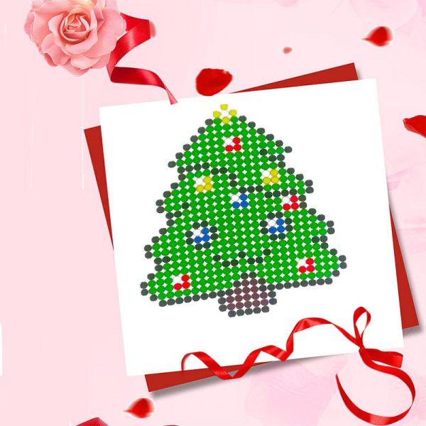 Christmas tree diamond painting sticker crafts supplies