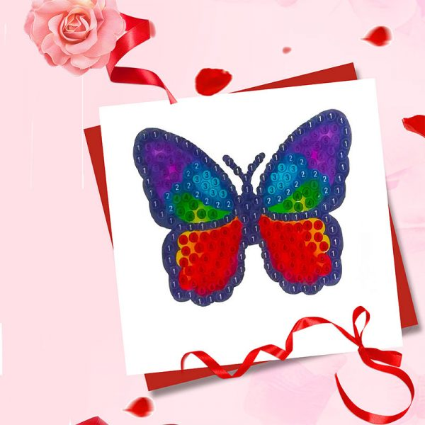 Butterfly colorful sticker diamond painting manufacturer