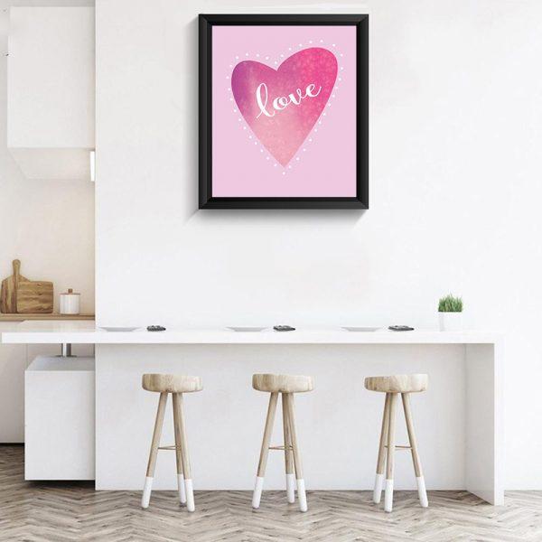 Heart pink 3D diamond painting craft manufacturer