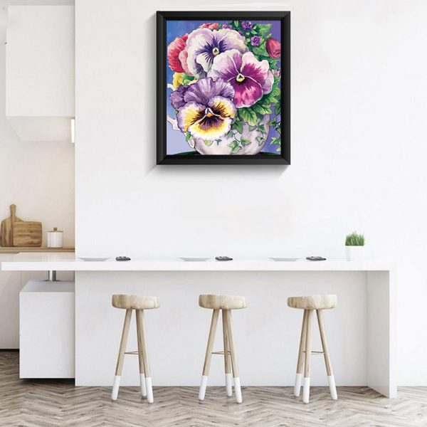 Pansy flower diamond painting 3D beautiful craft