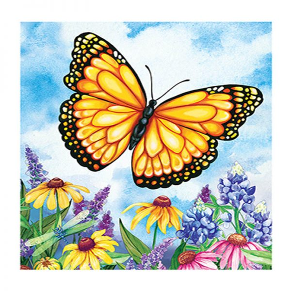 3D full round diamond painting butterfly decor
