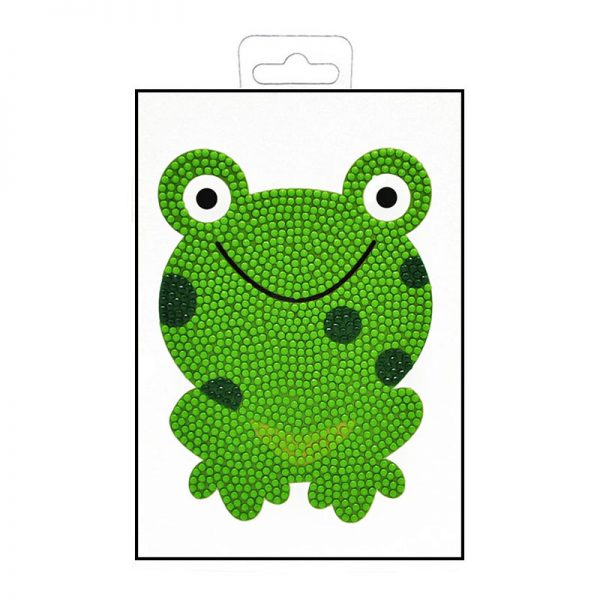 Dazzling diamond painting frog folded greeting cards
