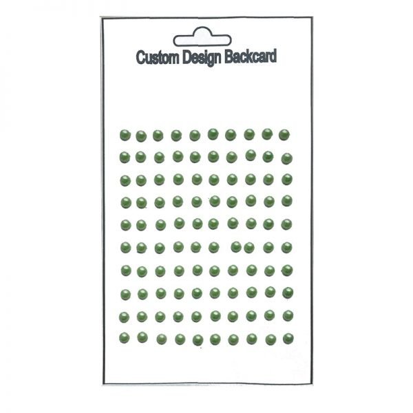 100pcs green color pearl sticker crafts supplies