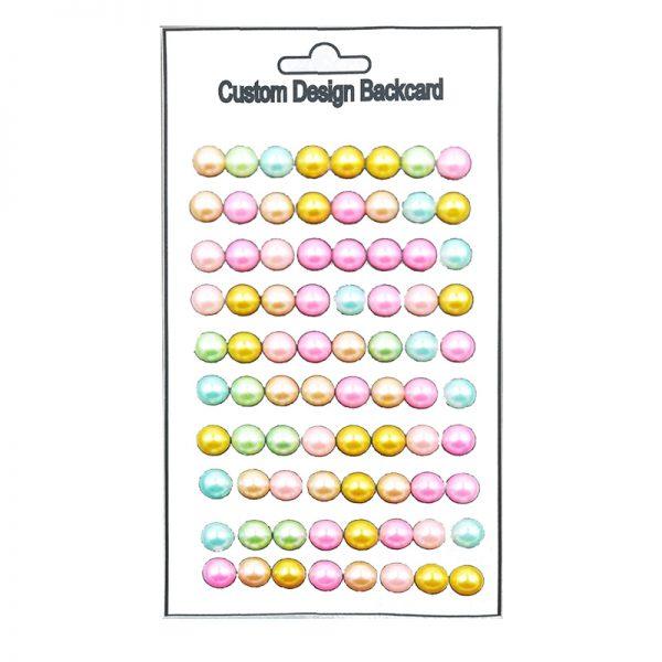 10mm diameter random color pearl sticker