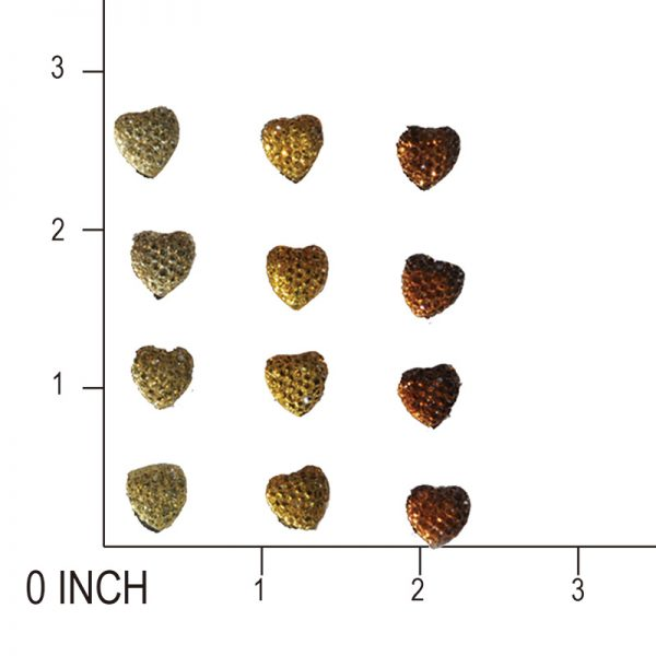12pcs gold heart gem sticker wholesales