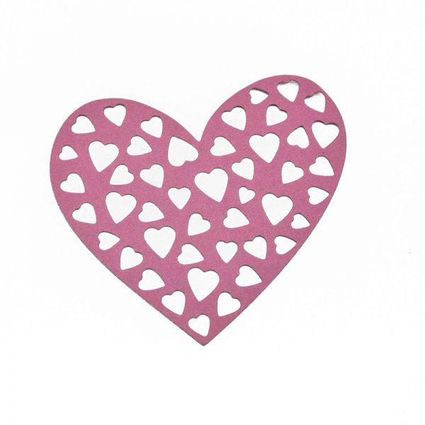 1pcs color heart design cutting dies for DIY hobby