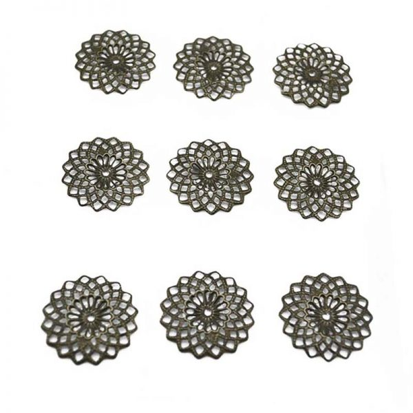 2.5cm flower shape craft trinkets for wholesale