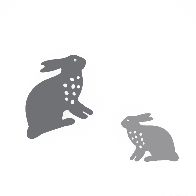 2pcs black rabbit design cutting dies for DIY crafts-China-Crafts-Supplies, Sino crafts is a professional manufacturer and supplier of arts & crafts, officially established in 2003.