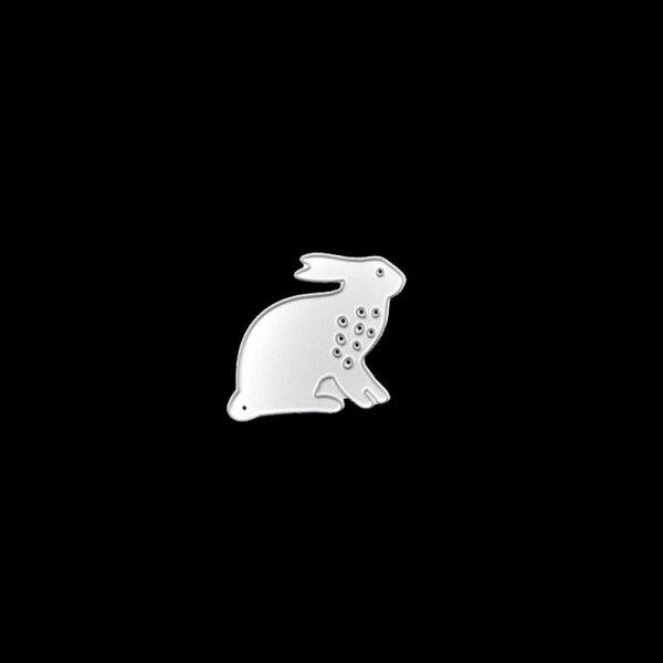 2pcs black rabbit design cutting dies for DIY crafts