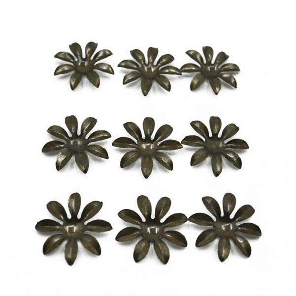 3cm trinket accessory metal flower for DIY hobby