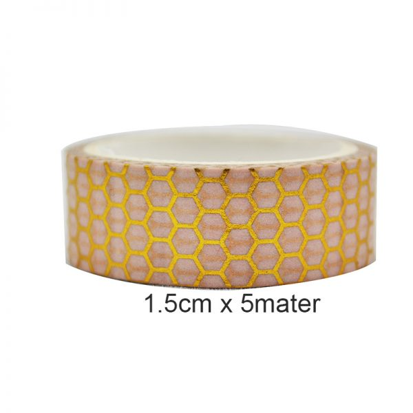 3pcs different style gold and pink color wahis tape