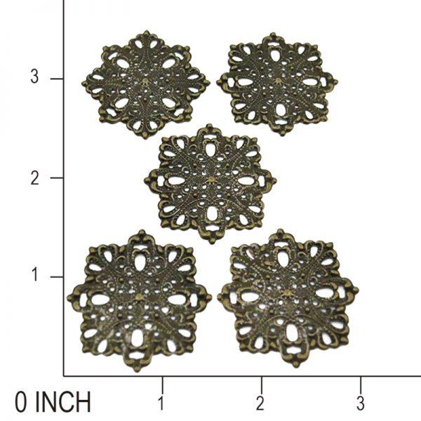 4.3cm metal flower trinkets for scrpbooking
