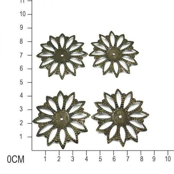 4pieces per pack copper color metal trinkets for scrapbooking