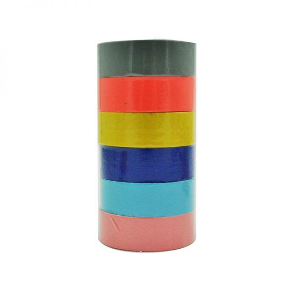 6pcs pure colors DIY crafts washi tape wholesales