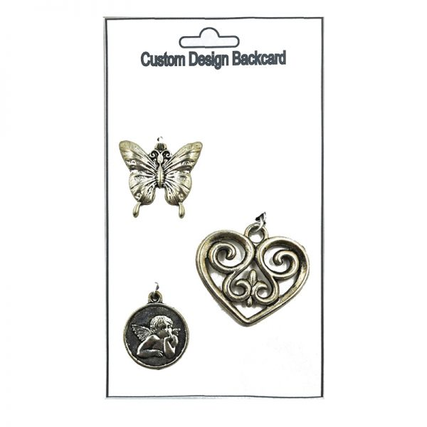 Angel coin hollowout heart and butter fly shape charm