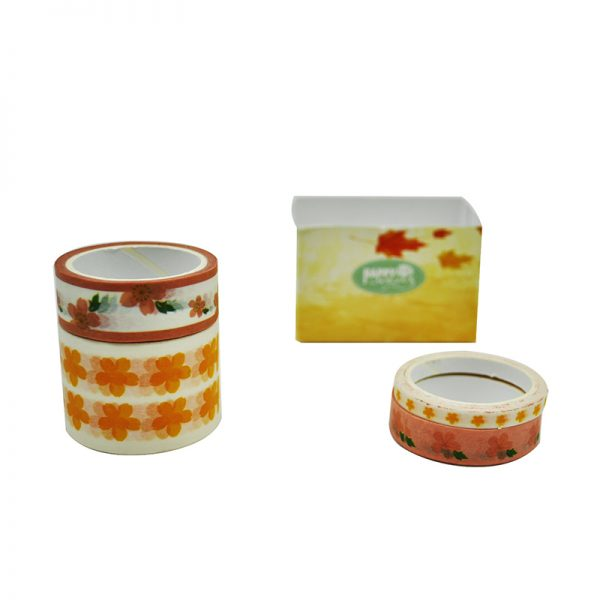 Autumn theme leaf design washi tape for decoration