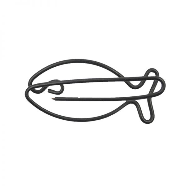 Black fish shape paperclip craft wholesales for decoration