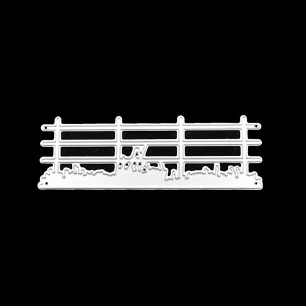 Black style chicken and fence theme cutting dies wholesaler