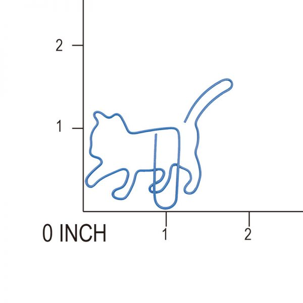 Blue cat shape design electroplate paperclips manufacturer