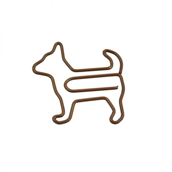 Brown dog crafts clip design and metal paperclip