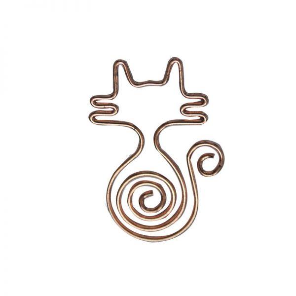 Champagne cat design metal paperclip wholesales