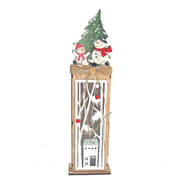 Christmas decoration wood craft stander with LED lights